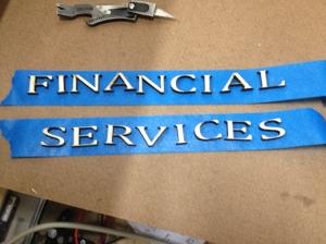 laser cut sign letters